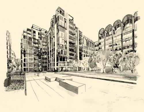 Courtyard - wider view